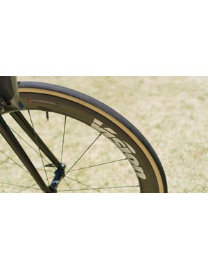 The Vision Metron wheels are shod with Vittoria tyres