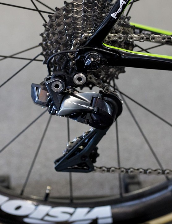 No oversized jockey wheels for the Cannondale team this year
