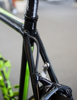 The cable routing for the rear brake is equally as clean as the front