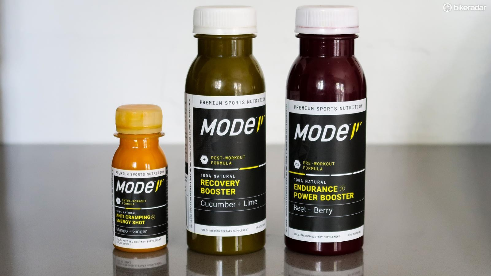 MODe's line of natural cold-pressed sports nutrition products