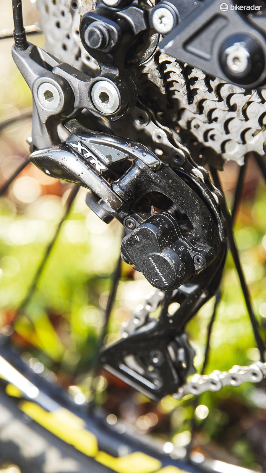 Shimano XTR gives a 40t crawler gear for getting up otherwise brutal climbs