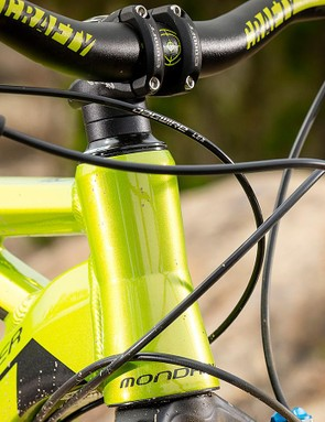 The 68.5-degree head angle keeps handling sharp, but could be slacker for rough riding