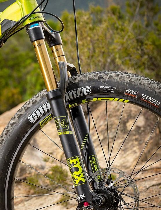 Because of the steepish front, Fox's 34 fork, which isn't the burliest, can tend to feel a little ragged over rocky ground