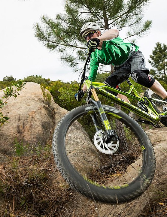 Fit an angled headset and a heavier-duty fork and you'd have a beast of a bike on your hands