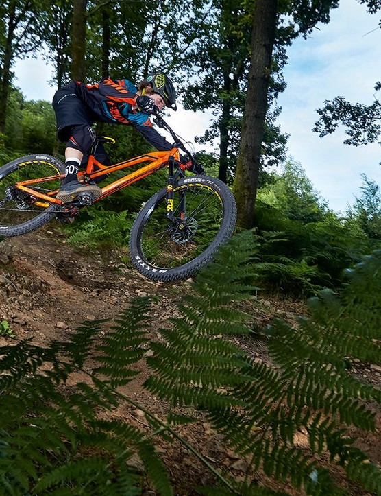 Maxxis tyres are as impressive in 2.8-inch plus size as they are in conventional widths, but these XC-weight boots can't be hammered too hard or run too soft on rocky trails
