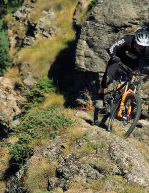 High-speed stability comes from the bike's length, not a slack head angle