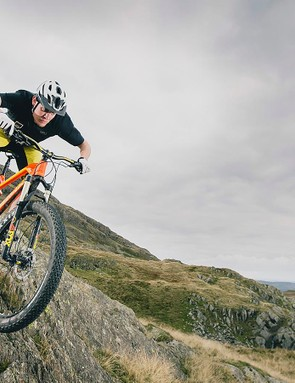 Get adjusted to keeping the fork weighted, and you'll be hounding full-sus bikes downhill