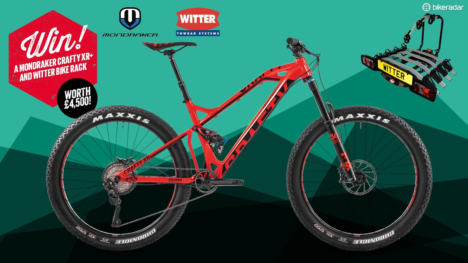Win a Mondraker Crafty XR+ and Witter bike rack!