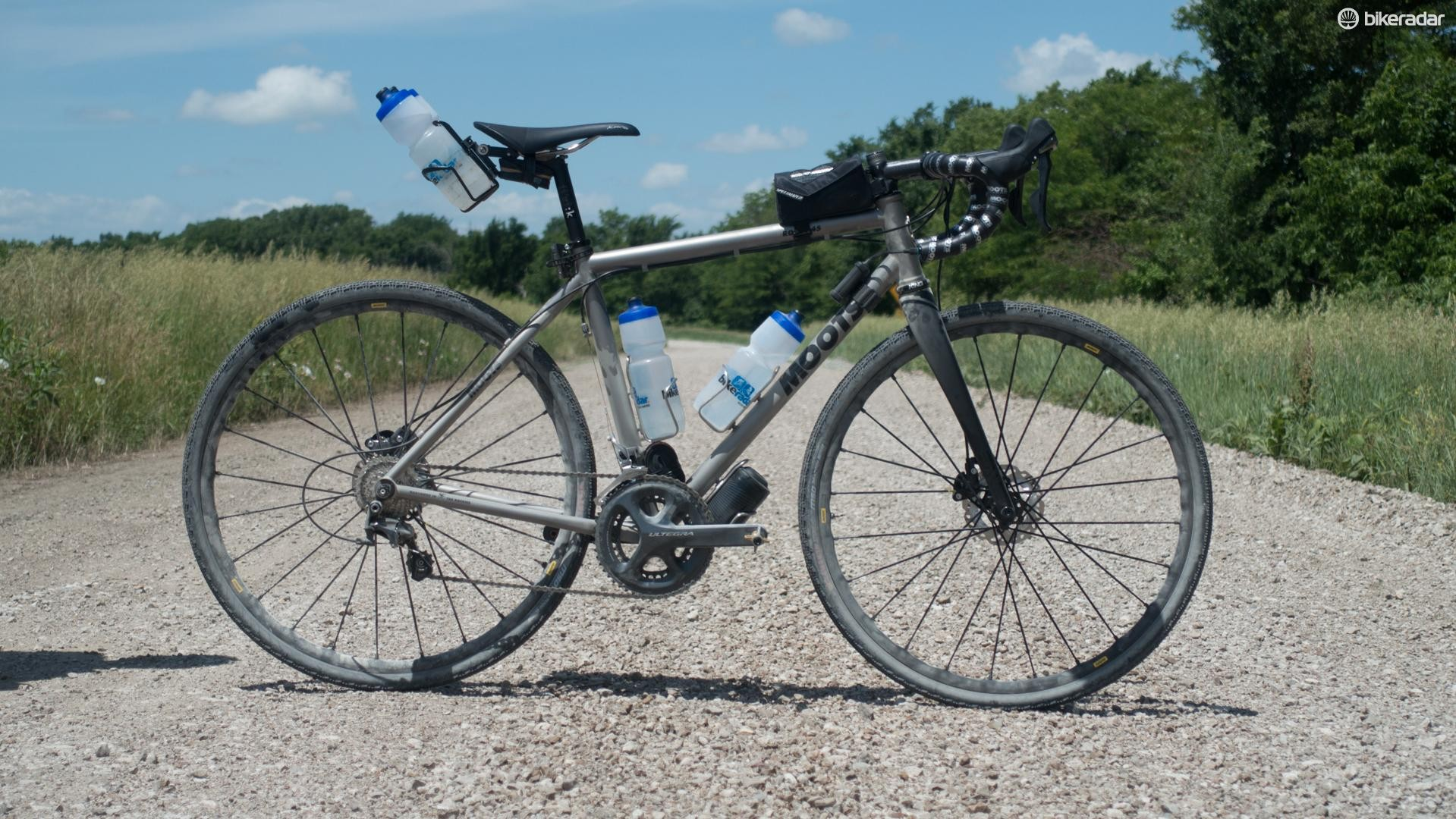 The before: Moots Routt 45 in race trim