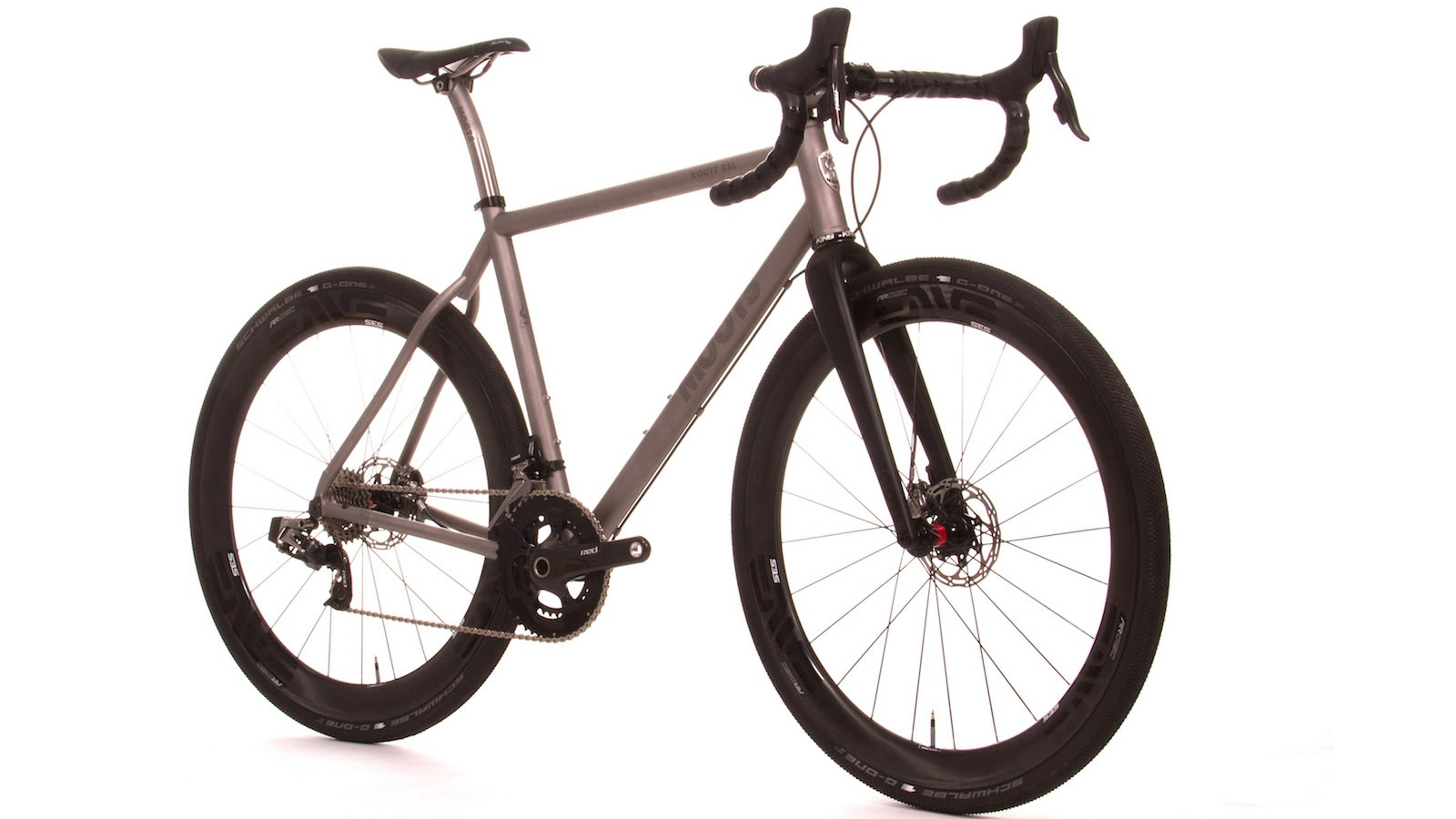 The Moots Routt RSL is a racy take on a gravel bike, handmade from titanium