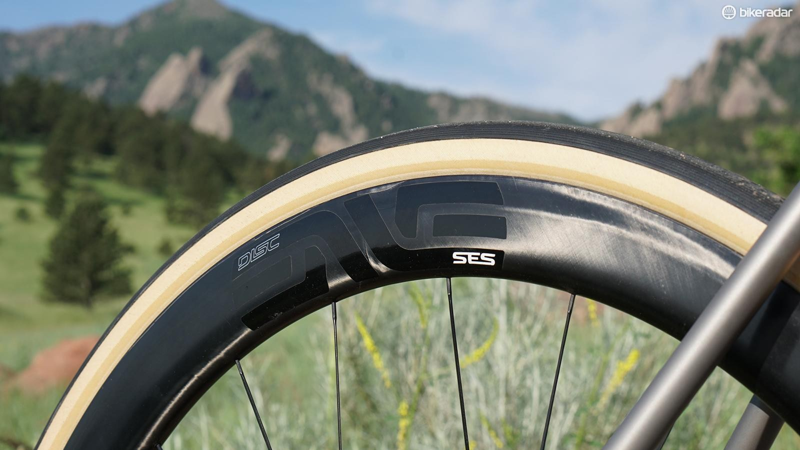 A variety of builds are available. ENVE's SES 4.5 wheels are hard to fault in the disc configuration