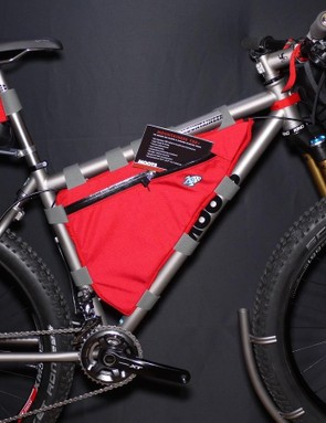 Moots debuted the new incarnation of its legendary Mountaineer model (originally launched in 1984) at Interbike last fall. The latest take is a 27.5+ Boost 148 bike with the option of a YBB rear end