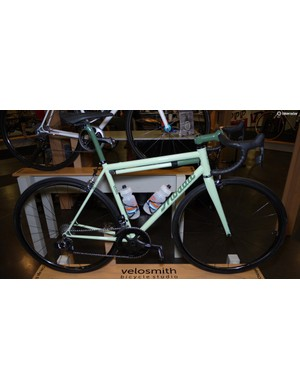 Mosaic showed off a beautiful example of its RS1 True Temper S3 steel road bike