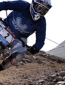 Tracy Moseley racing in Fort William last June.