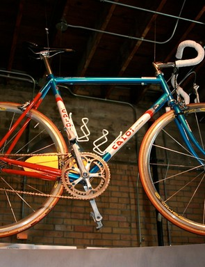 Lance's Caloi-branded Litespeed, winner at the `93 Worlds in Norway.