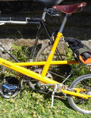 You don't need big wheels to ride Eroica. This was one of a number of 1960s Moultons spotted in Derbyshire