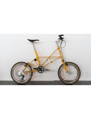 The bike cuts an... odd silhouette