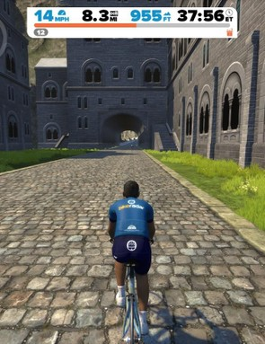 The new 30min climb includes a trip through what looks to be an alpine German village
