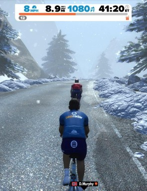 The graphics are excellent, with conditions changing from clear to foggy to snowing