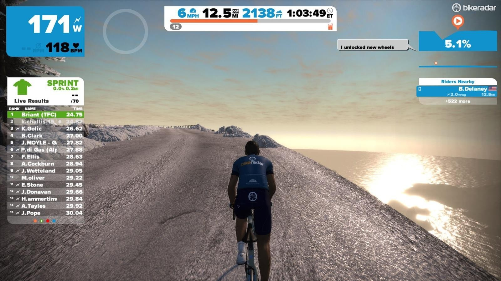 Zwift just added a mountain expansion