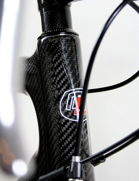 The head tube features a pointed front for styling and aerodynamics