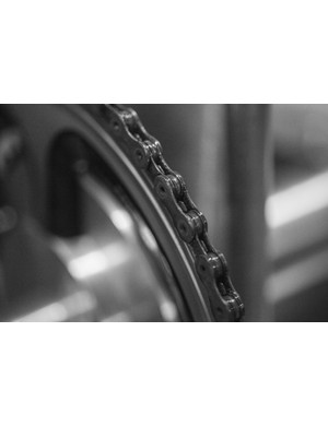 The black finish of a Nanotube treated chain means you probably won't be able to distinguish it from a regular, untreated component