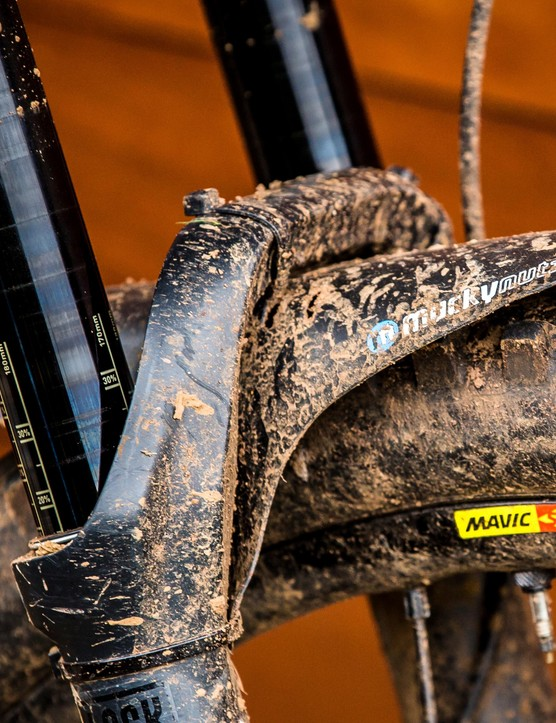 Mucky Nutz fenders keep slop from Joe's eyes