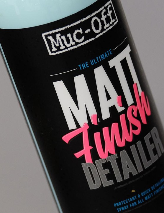 Muc-Off's Matt Finish detailer is ready to rid your ride of greasy fingerprints