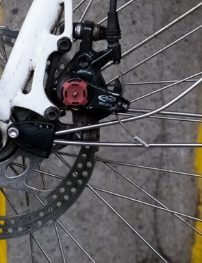 Don't be surprised if you have to 'encourage' the stays of your mudguards to work nicely with disc brakes