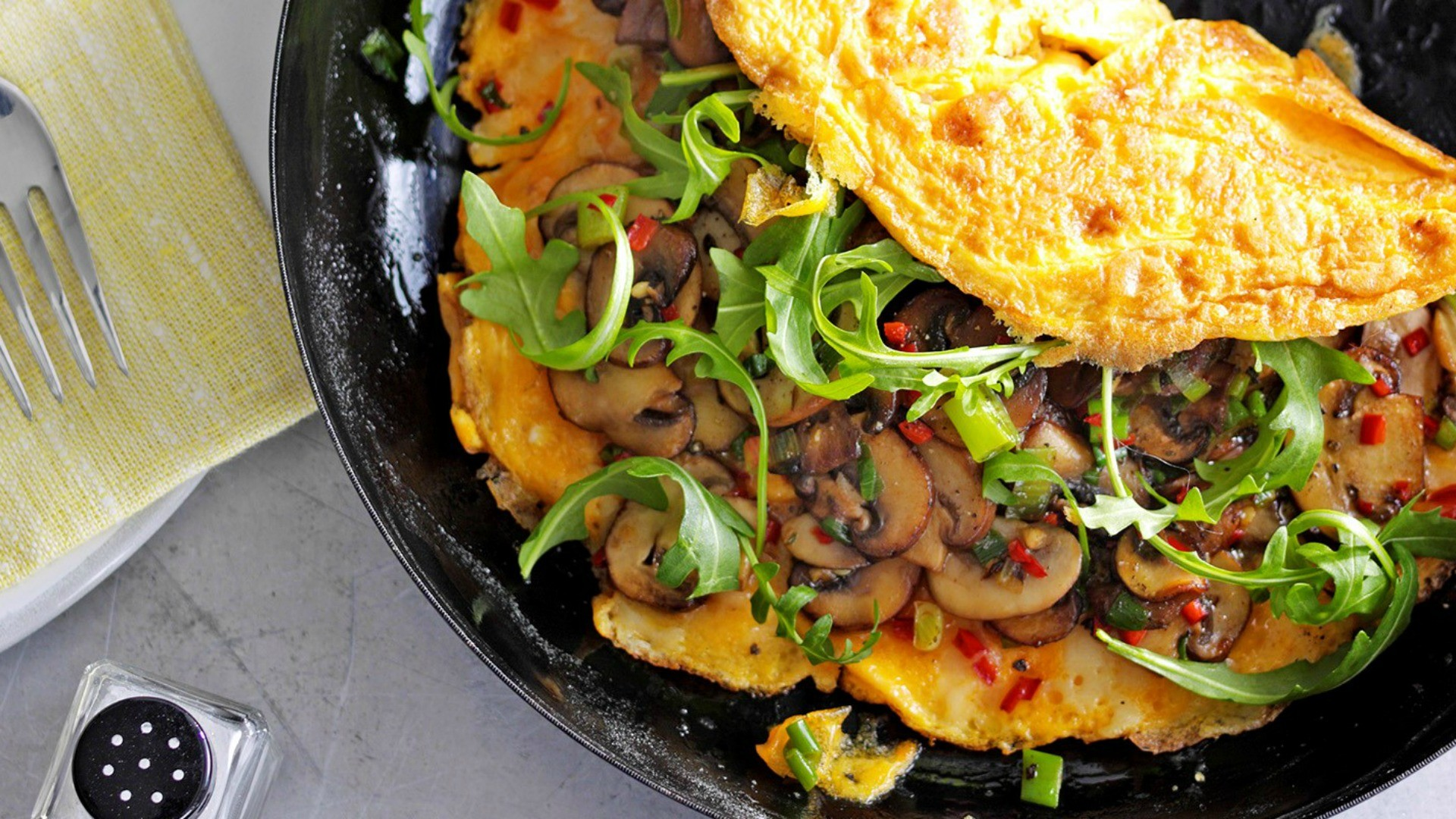 Super-quick to whip up, with a bit of a chilli kick in with the mushrooms