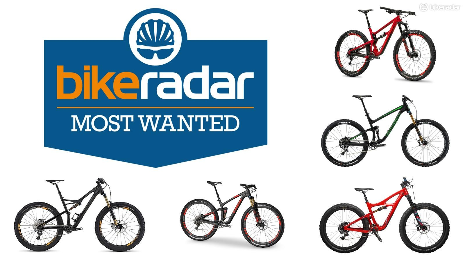 BikeRadar's 2016 Most Wanted Awards are underway. Here are the trail bike nominees