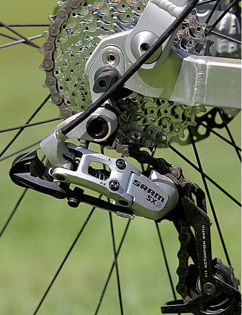 The rear mech is a SRAM SX-5