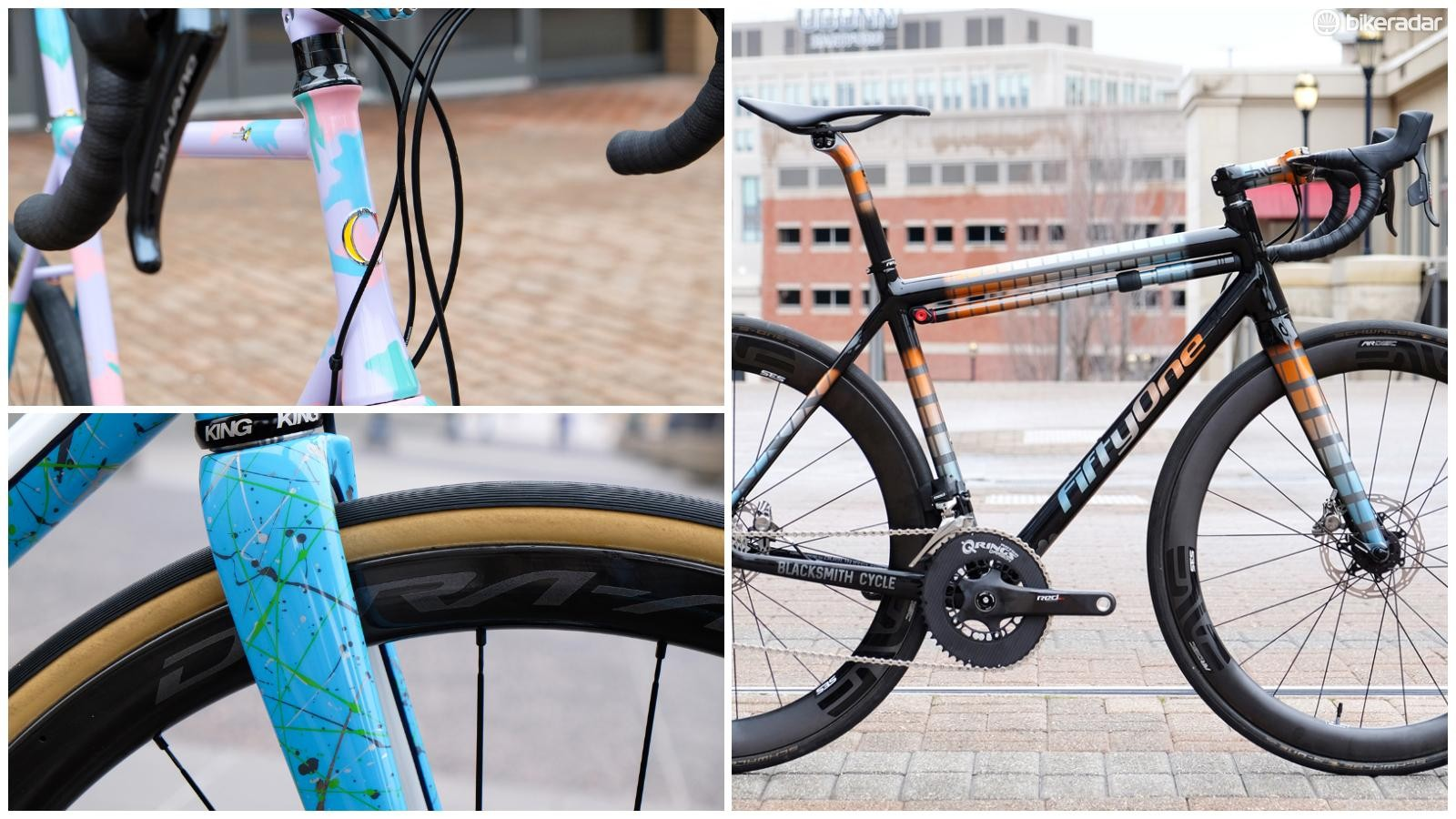 NAHBS is always full of stunning creations. Here's a look a three road bikes that caught my eye