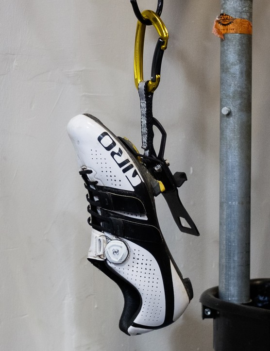 The Neat Cleat uses a pressed steel plate, specially shaped to accept SPD-SL, SPD or LOOK cleats
