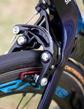 Campy's direct mount brakes are only available up to Record