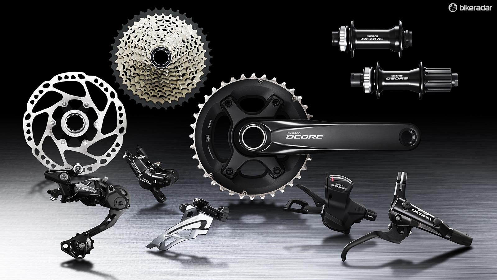 Shimano has updated its core mountain bike groups, with special attention given to Deore M6000
