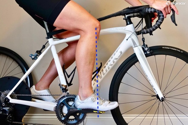 Fore/Aft of the seat is when the knee is over the pedal spindle with the crank at 3 o'clock as a starting point