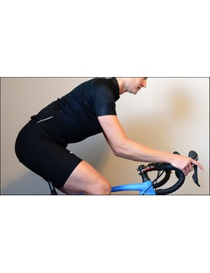 The proper height and reach of the bar creates a comfortable spine, shoulder, elbow and wrist