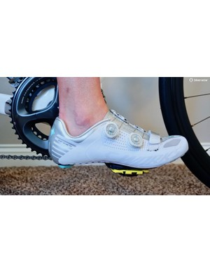 As a starting point, the ball of the foot should be over the pedal spindle