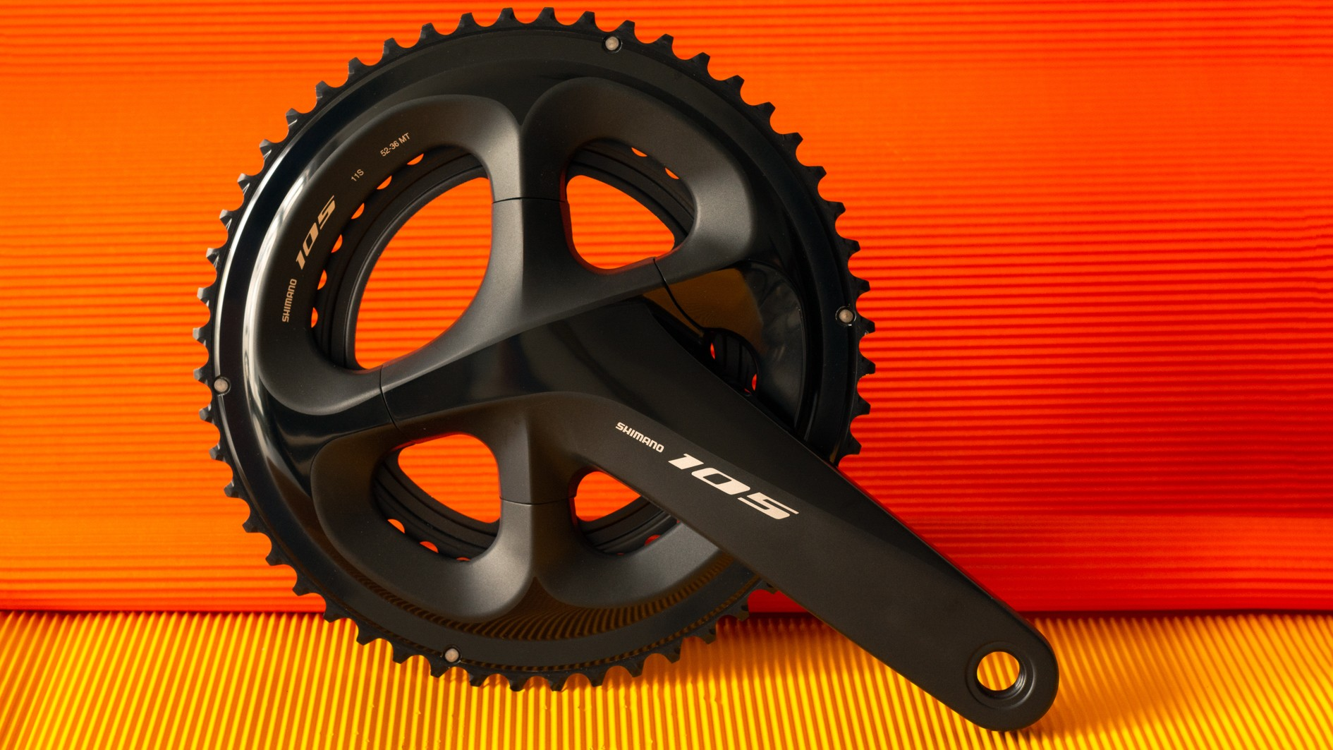 Save for the finish, the new 105 cranks are nearly identical to the higher end models