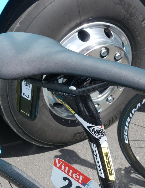 An unmarked Fizik Antares is Nibali's perch of choice