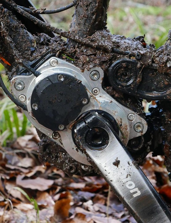 The Pinion box has a 600% gear range in this 12 speed model and it's mounted nice and low on the specially adapted frame