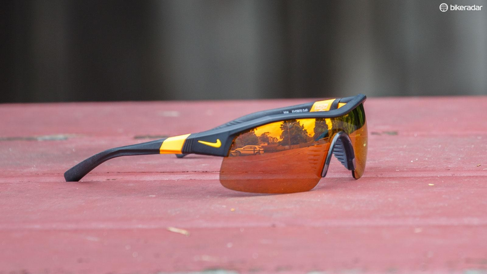 Nike's Show X1 sunglasses are pitched as an all-round sports sunglass, and they do a respectable job for cycling