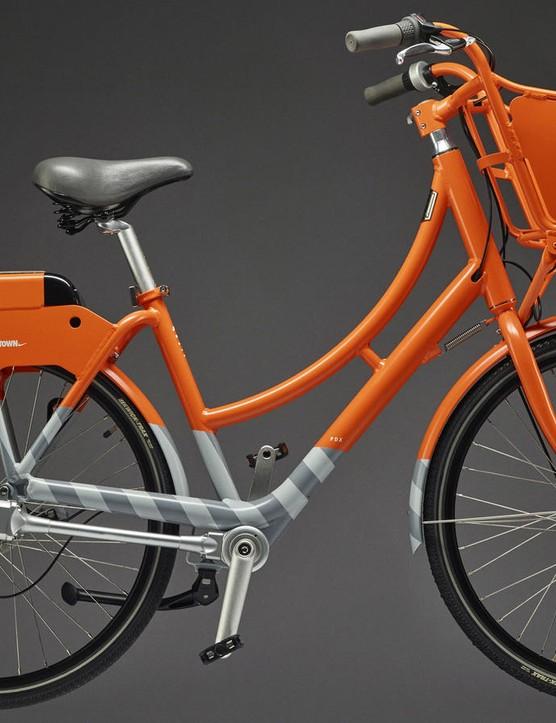 Nike's orange BIKETOWN city bike