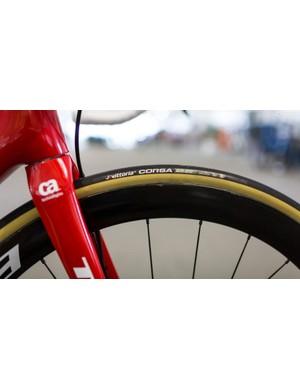 Trek-Segafredo is rolling on Vittoria Corsa tires this year