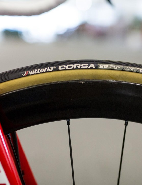 Trek-Segafredo is rolling on Vittoria Corsa tires this year