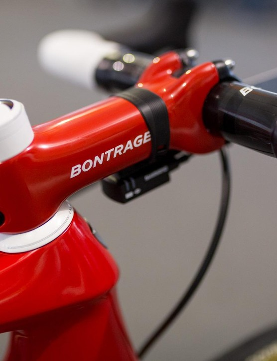 Bontrager provides the majority of the components on Eg's bike