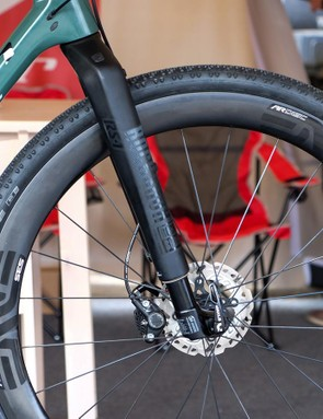 Niner worked with RockShox to modify the inverted RS-1 for gravel use
