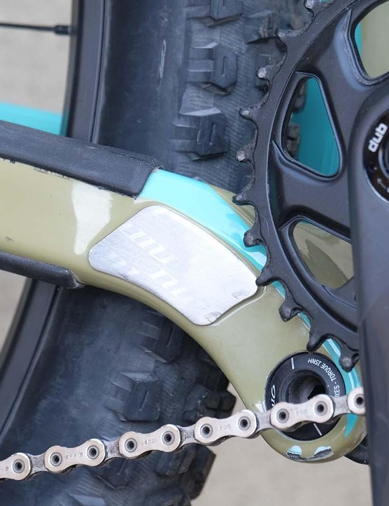 There's a neat chain suck protector to stop the carbon getting damaged
