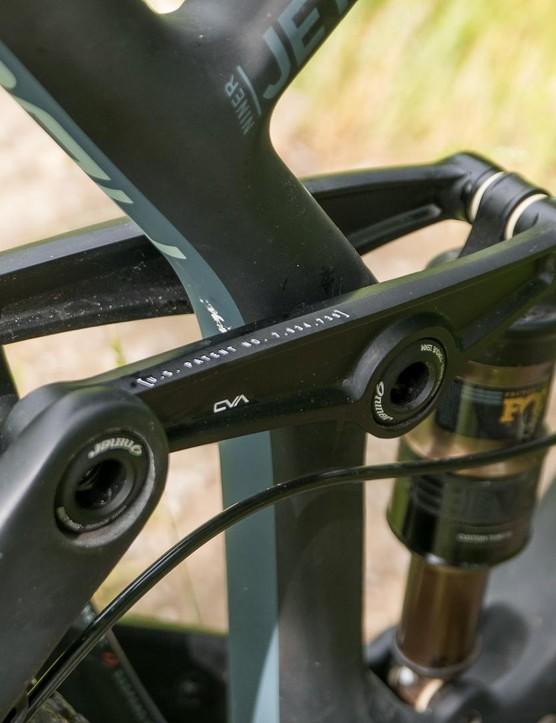 Niner's multi-link CVO suspension system remains however